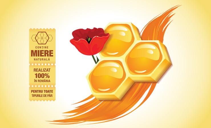 Sampon cu Miere Corona - Design Eticheta 1-2