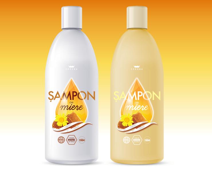 Sampon cu Miere Corona - Design Eticheta 2-2