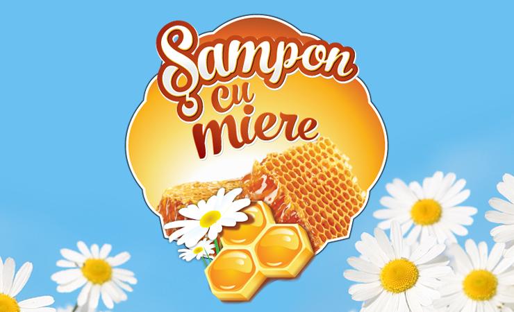 Sampon cu Miere Corona - Design Eticheta 3-1