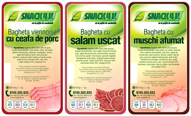 Snack4u - Design Etichete - Clasic 2