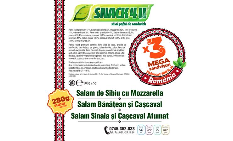 Snack4u - Design Etichete - Petrom 1